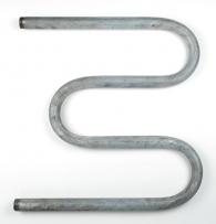 Полотенцесушитель стальной оцинкованный М-образный D-25